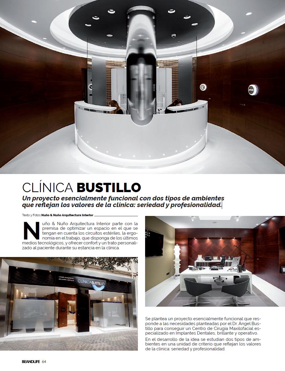Artículo sobre la Nueva Clínica Dental Bustillo de Pamplona en la revista BEANDLIFE
