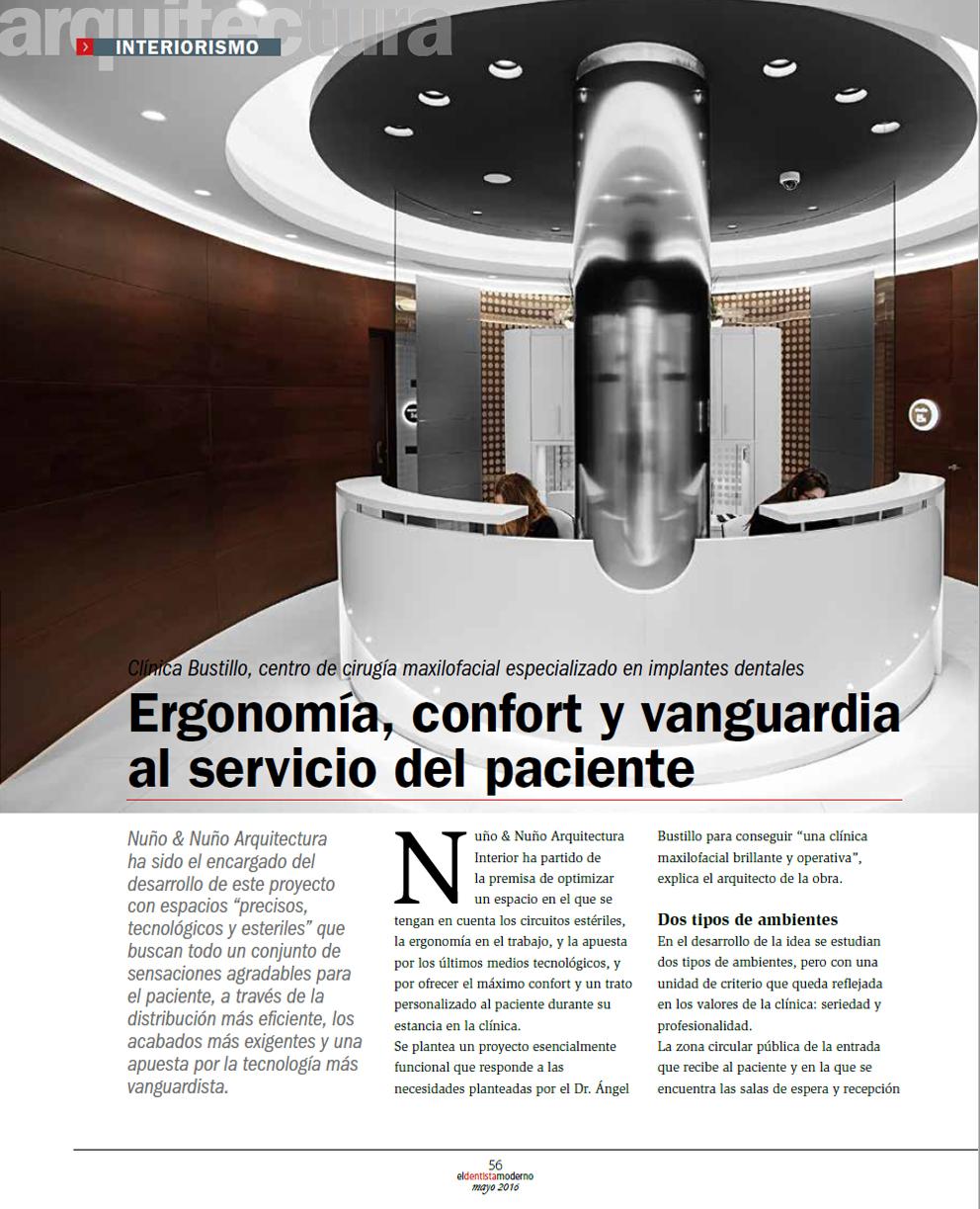 Artículo sobre la Nueva Clínica Dental Bustillo de Pamplona en la revista El Dentista Moderno.
